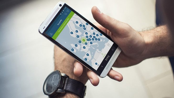 NordVPN on a smartphone