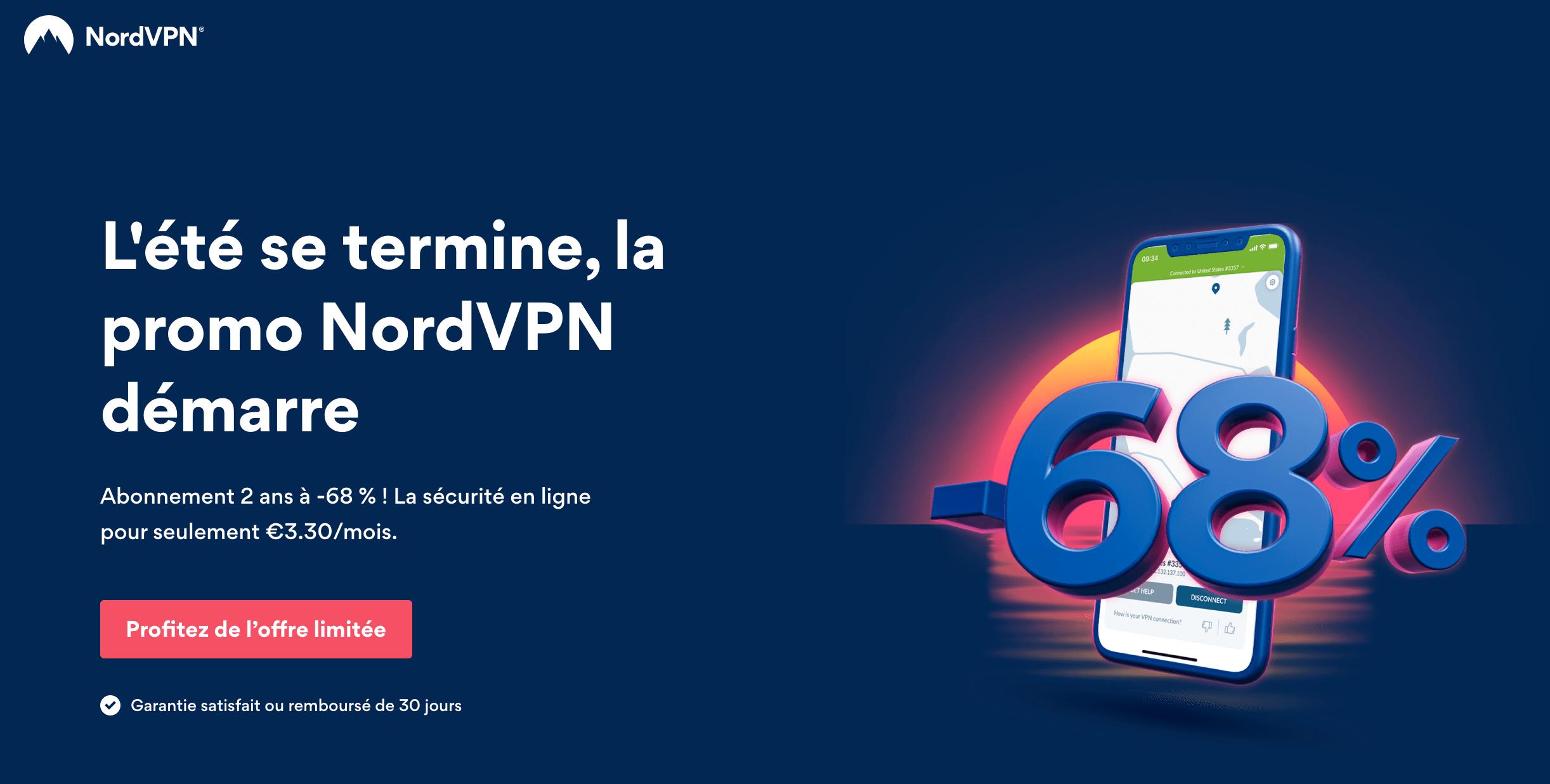 Promo NordVPN: 68% de réduction grâce au code decrypte