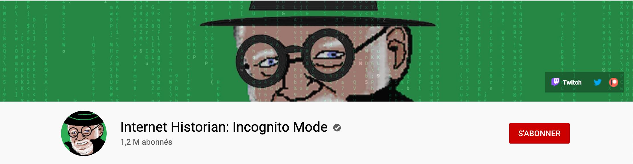 Youtube Cover of Internet Historian: Incognito Mode