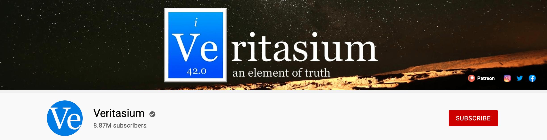 Veritasium banner on YouTube