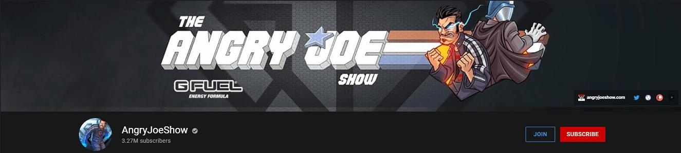 YouTube Banner of the AngryJoeShow