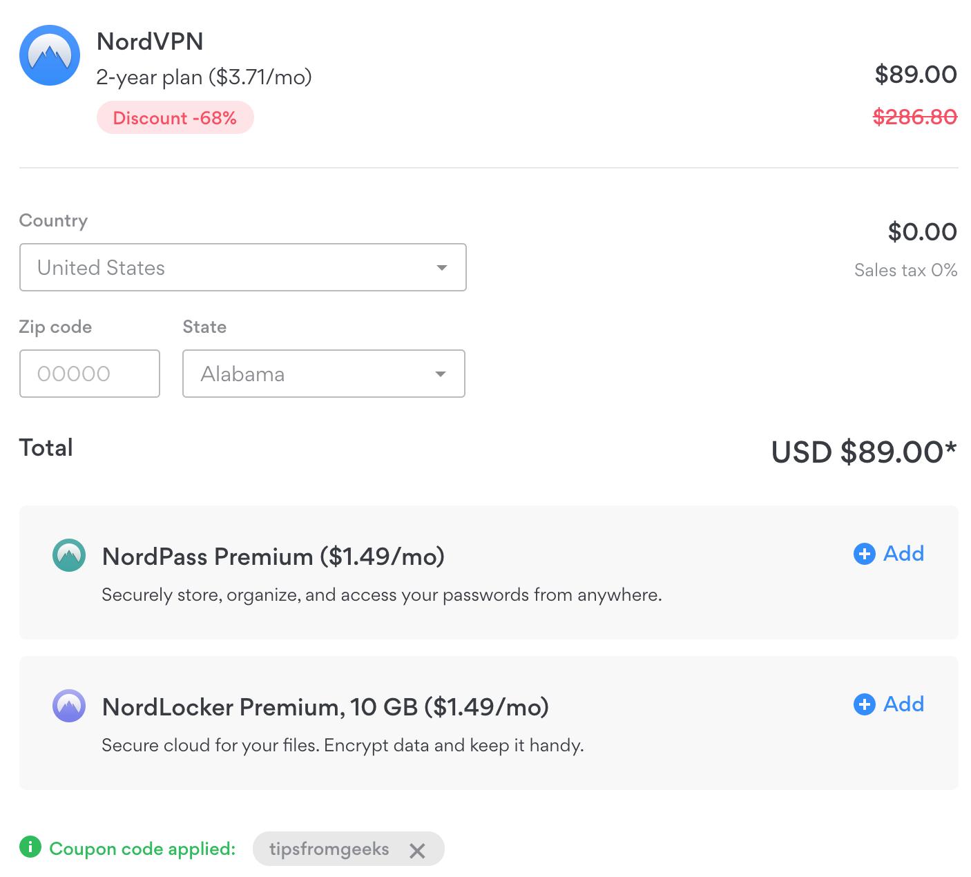 Get NordVPN coupon code with AlternateHistoryHub and Tipsfromgeeks