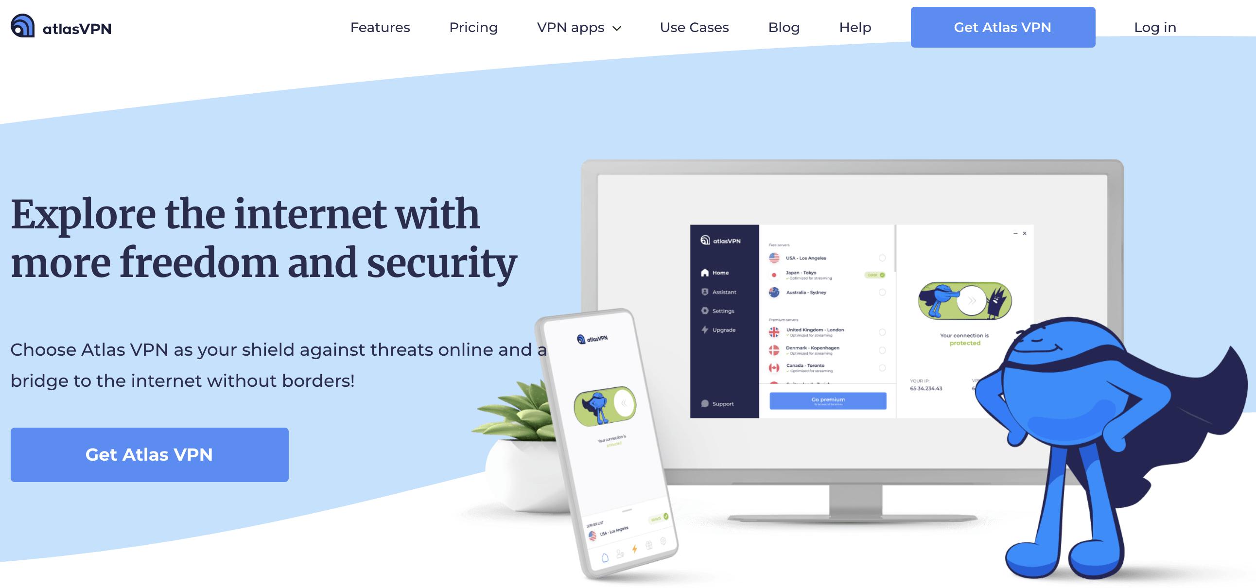 Atlas VPN Home Page