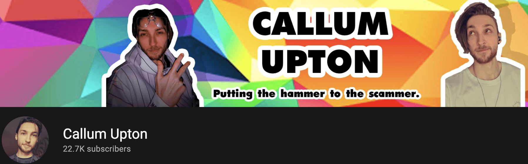 Callum Upton Banner on YouTube