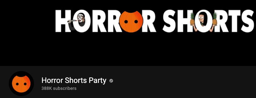 Horror shorts banner