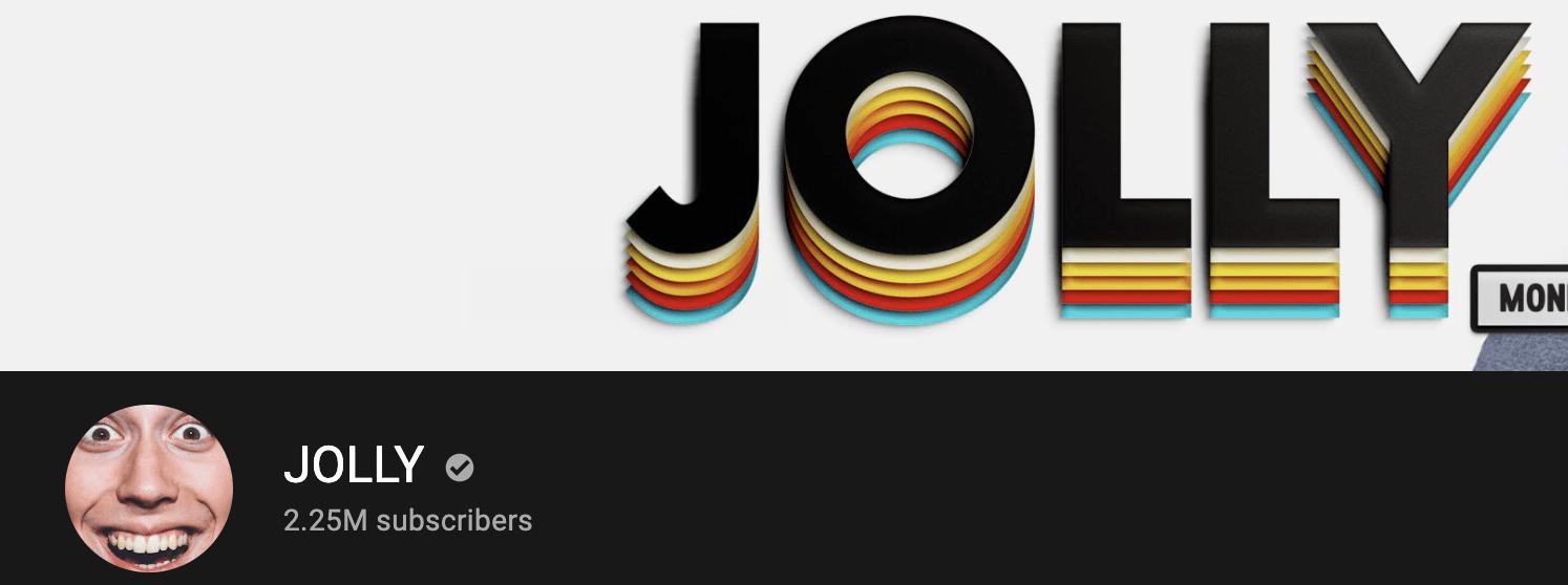 JOLLY YouTube Banner
