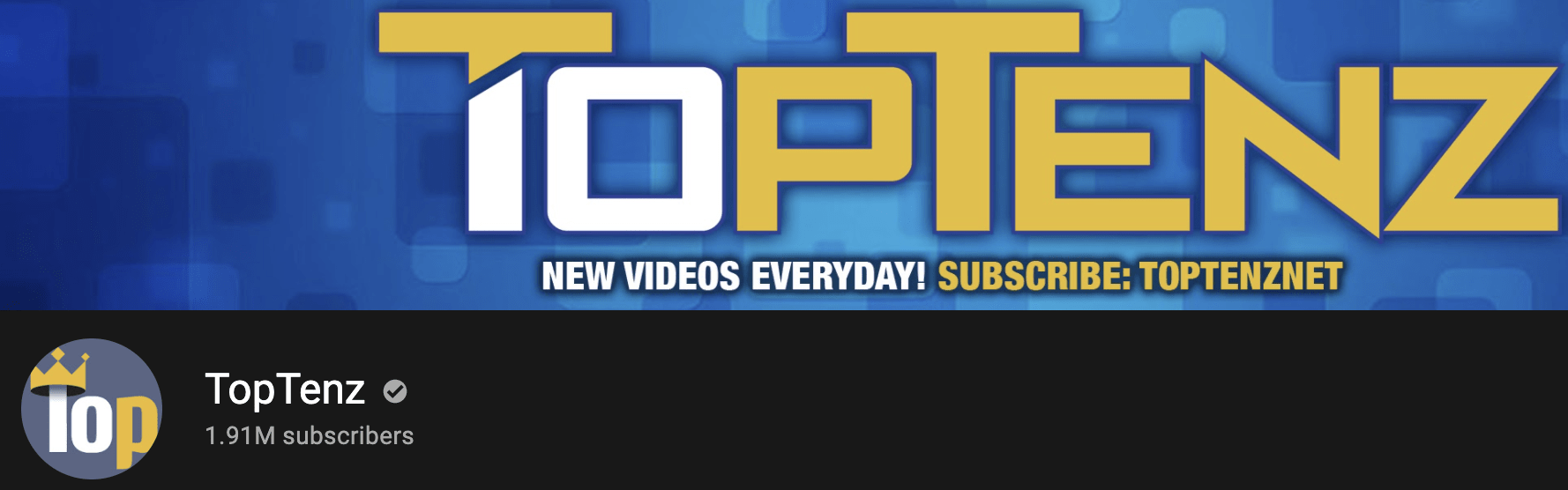 Take a look at the TopTenz channel